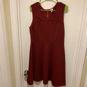 Merona Burgundy Dress